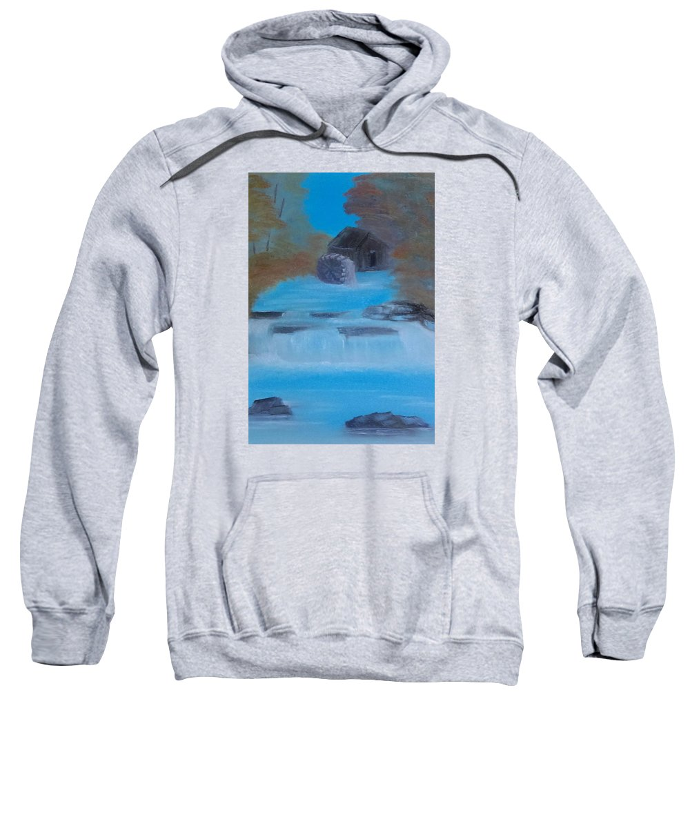 Water Sweatshirt featuring the painting Mill In The Woos by Susan Brown