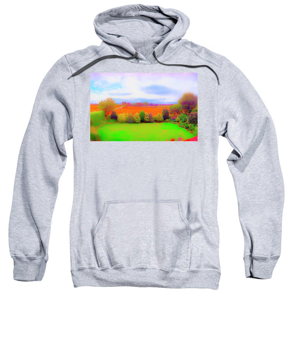 Railroad Sweatshirt featuring the photograph Milton Gardens by Jan W Faul