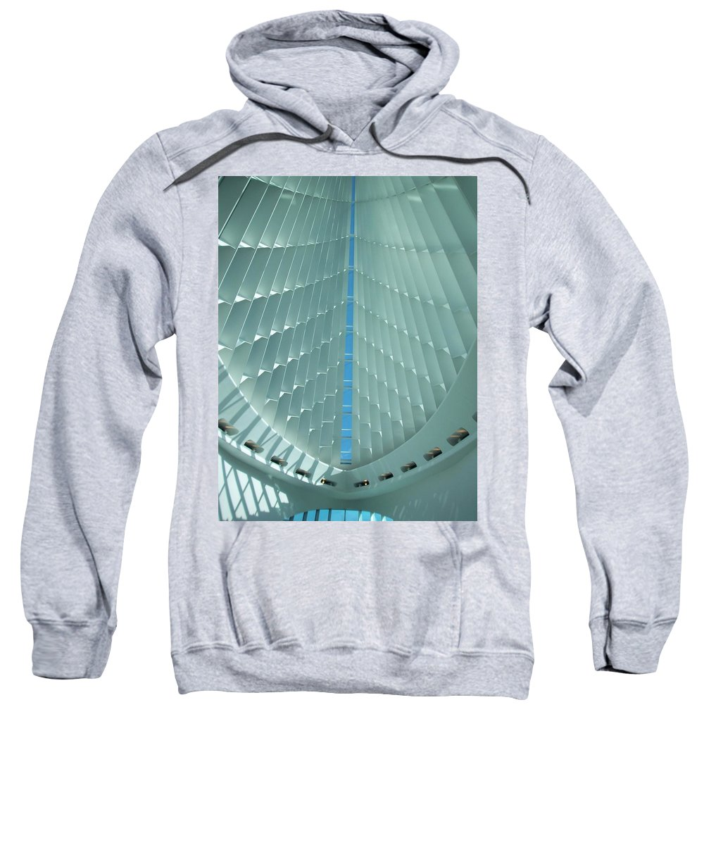 Mam Sweatshirt featuring the photograph Milwaukee Art Museum Interior by Anita Burgermeister