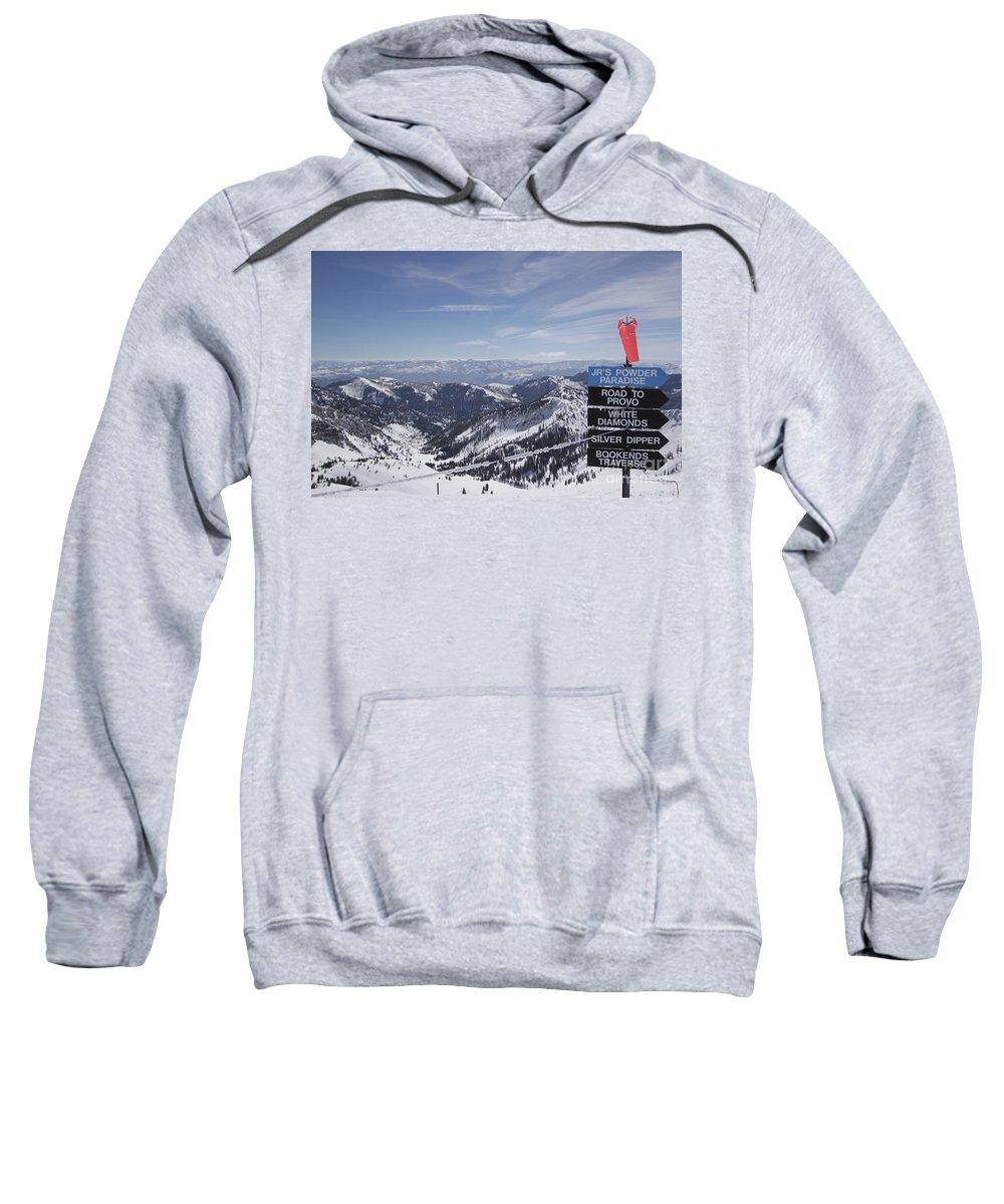Snowbird Ski Resort Sweatshirt featuring the photograph Mineral Basin by Adam Jewell