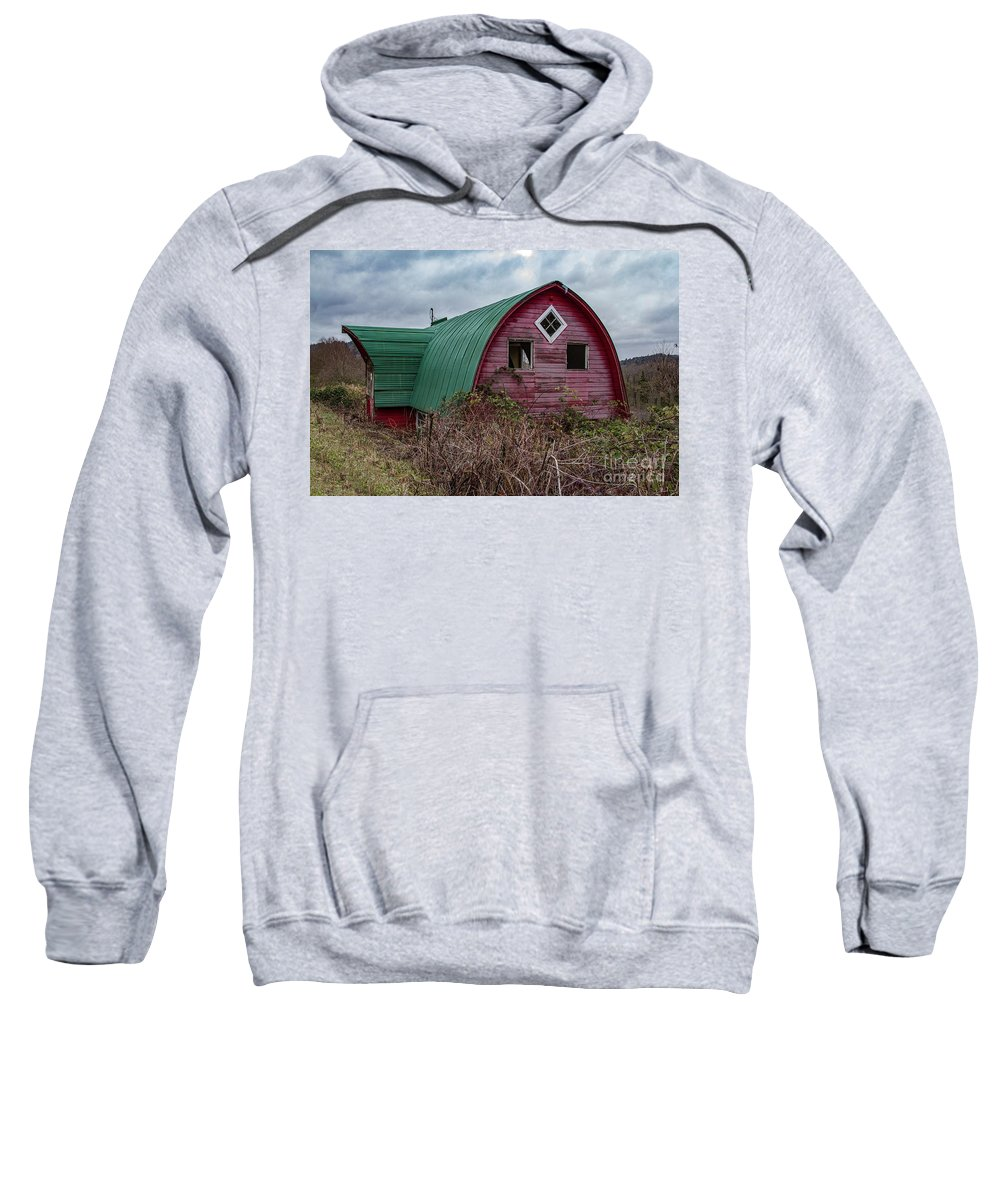 Barn Sweatshirt featuring the photograph Mini Barn 2018_1_27-4-edit- by Roger Patterson