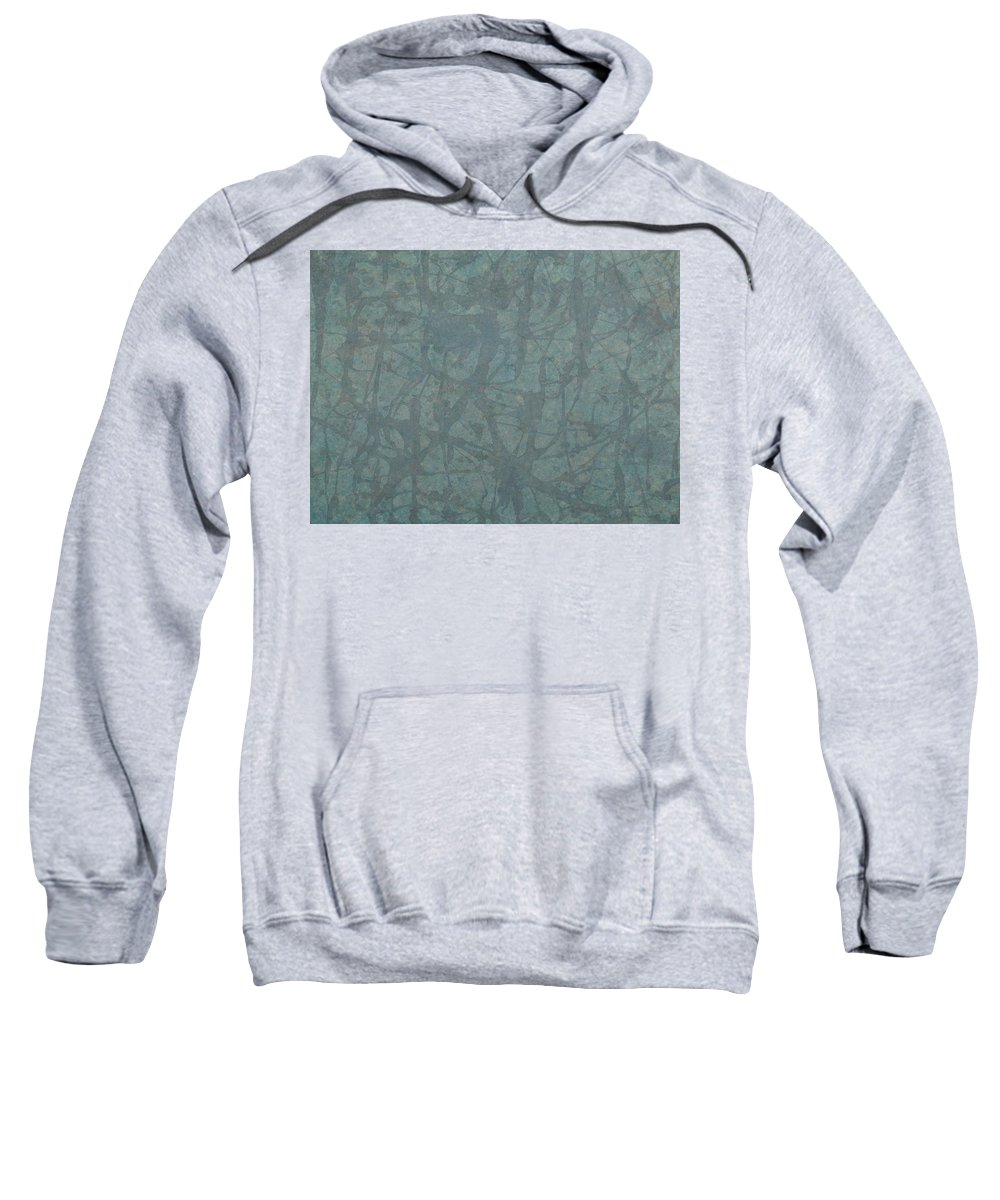 Minimal Sweatshirt featuring the painting Minimal Number 3 by James W Johnson