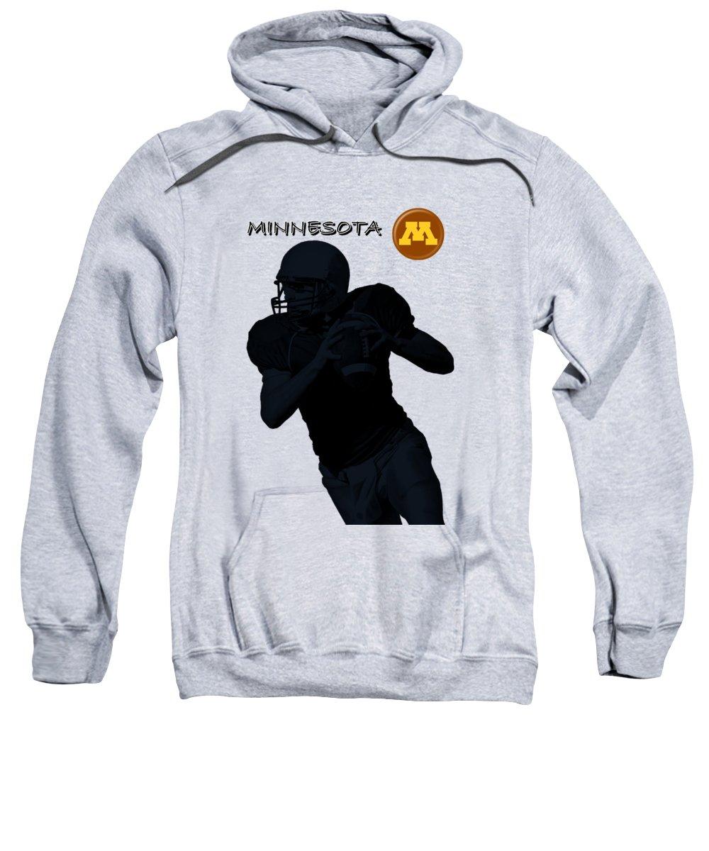 Football Sweatshirt featuring the digital art Minnesota Football by David Dehner