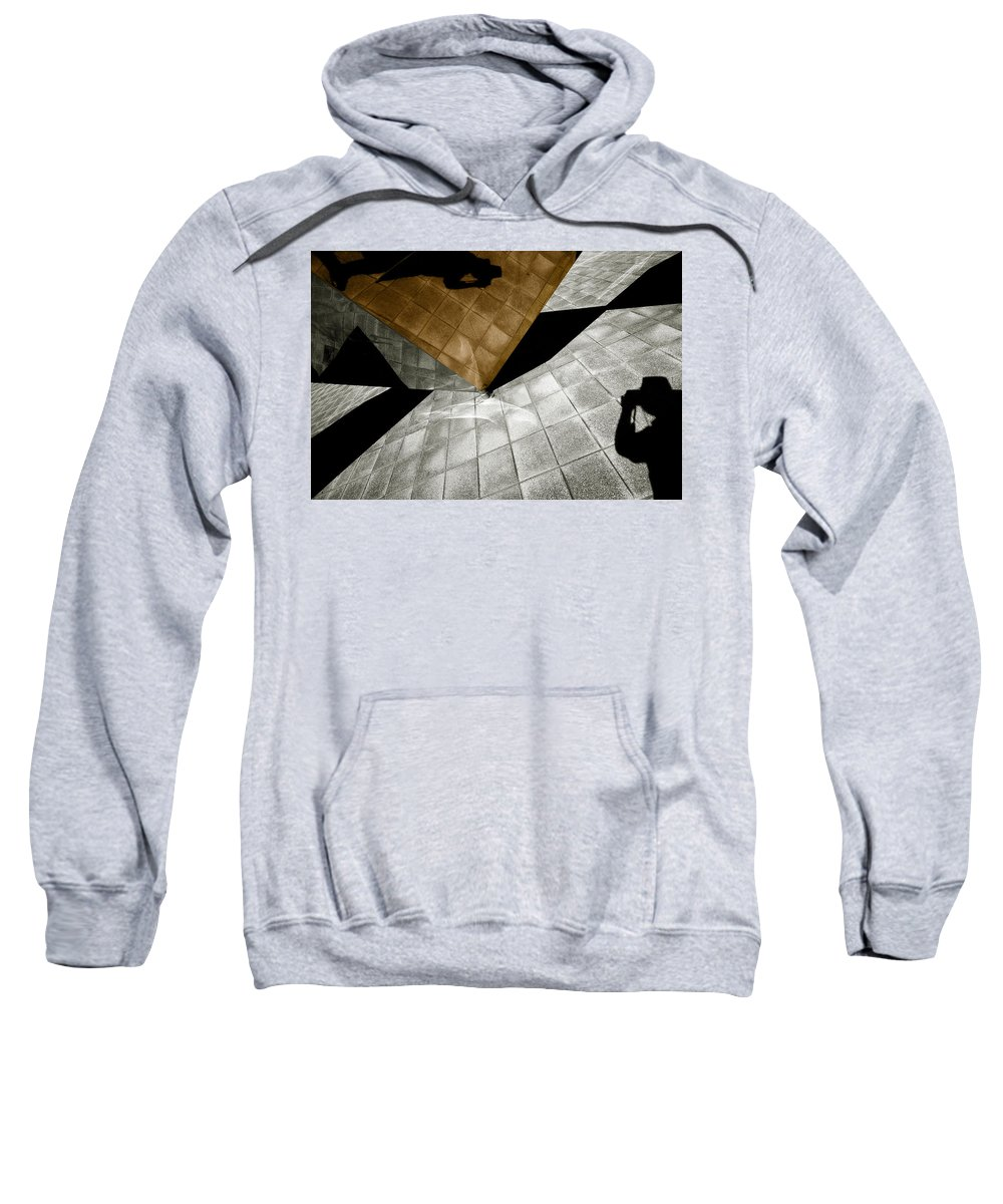 Sculpture Sweatshirt featuring the photograph Mirror Act by Wayne Sherriff