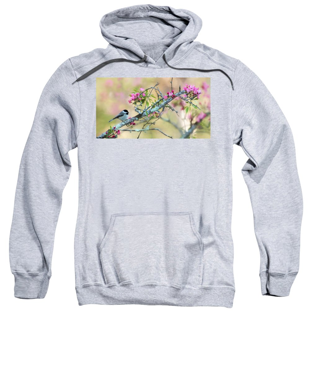 Chickadee Sweatshirt featuring the photograph Miss Chickadee by Lori Deiter