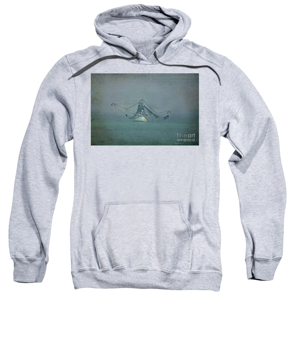 Fishing Boat Sweatshirt featuring the photograph Miss Hazel Textured by Deborah Benoit