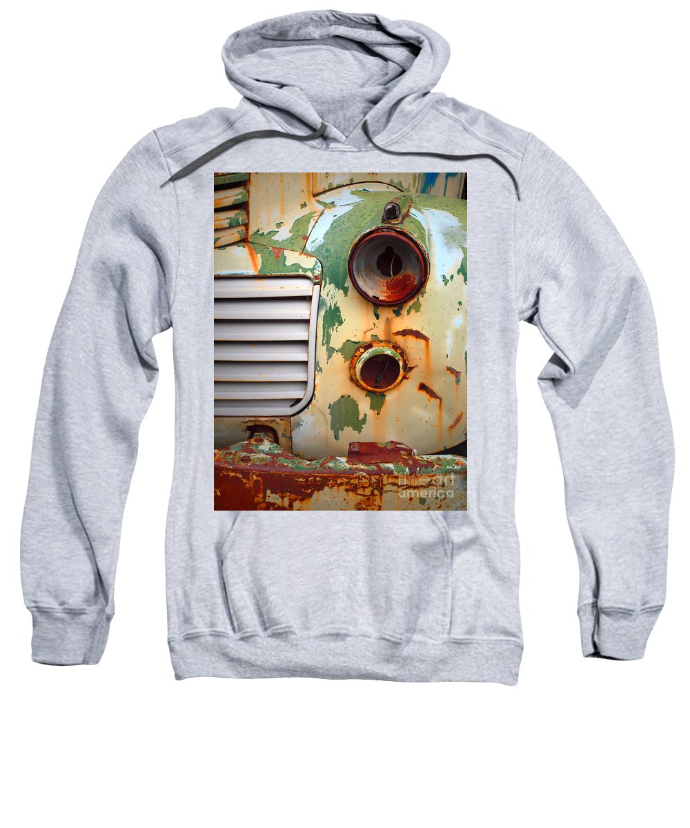 Car Sweatshirt featuring the photograph Missing Parts by Tara Turner