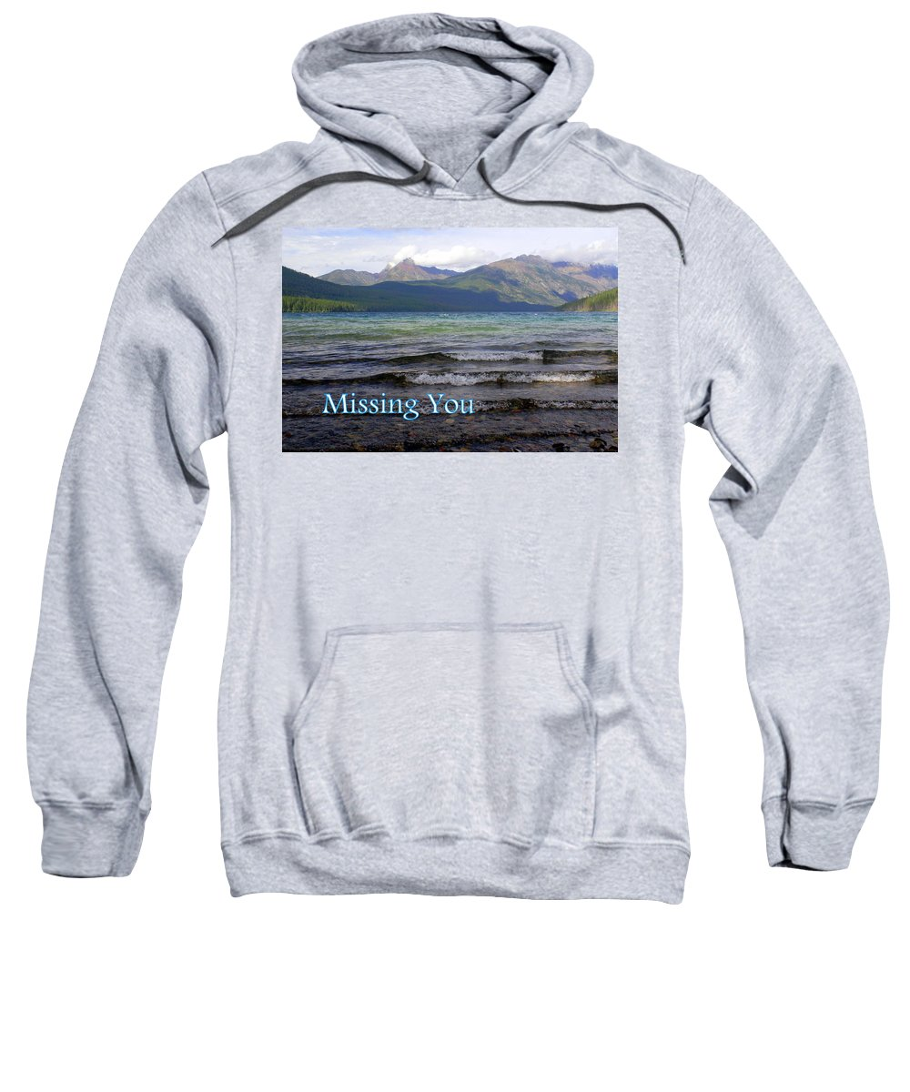 Greeting Card Sweatshirt featuring the greeting card Missing You 1 by Marty Koch