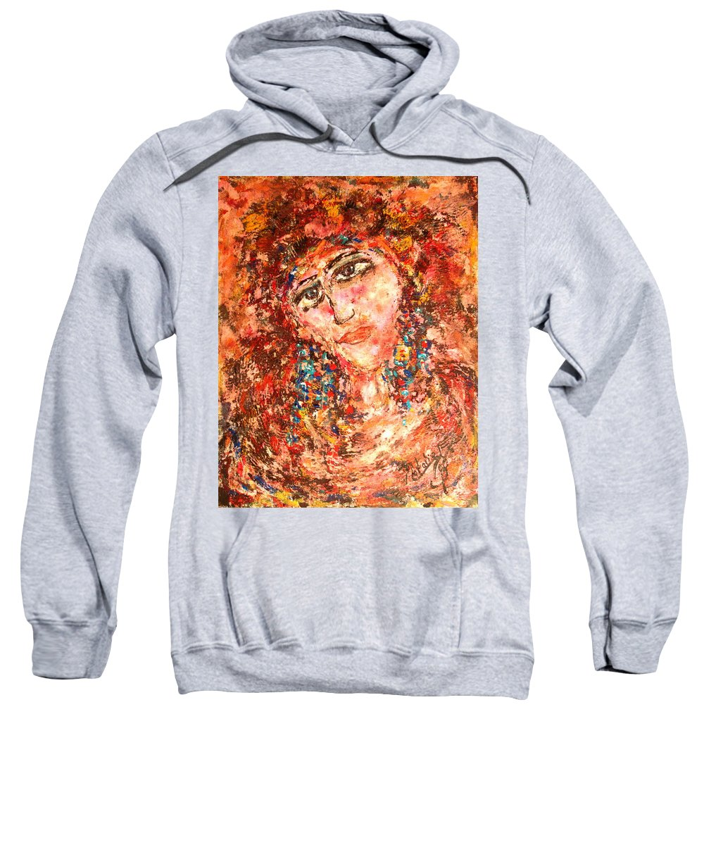 Sadness Sweatshirt featuring the painting Missing You by Natalie Holland