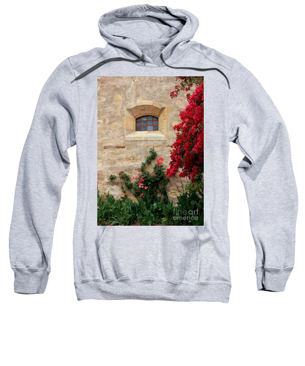 Window Sweatshirt featuring the photograph Mission Window by Carol Groenen