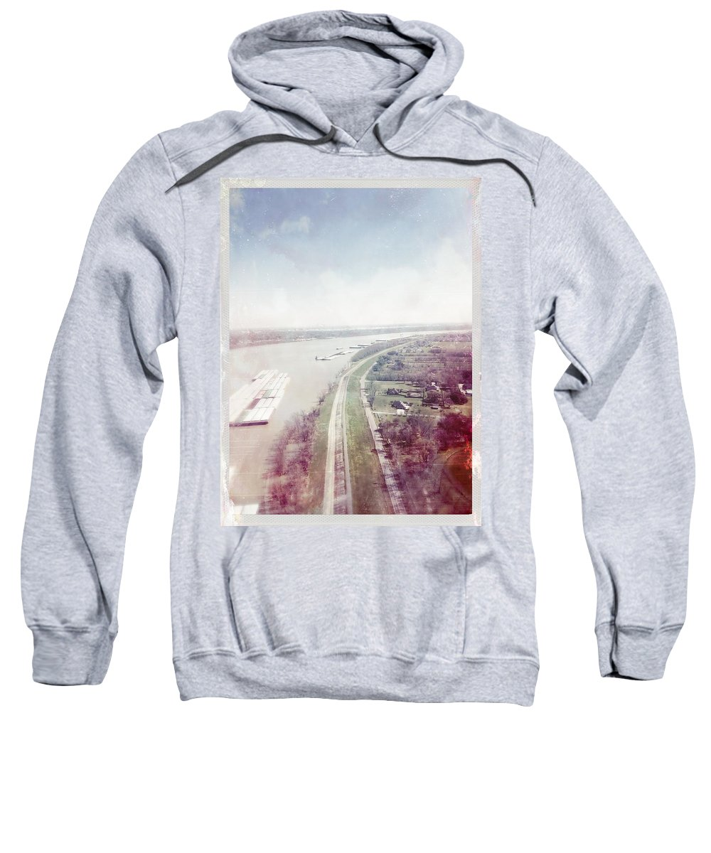 River Sweatshirt featuring the photograph Mississippi River by Judith Kitzes