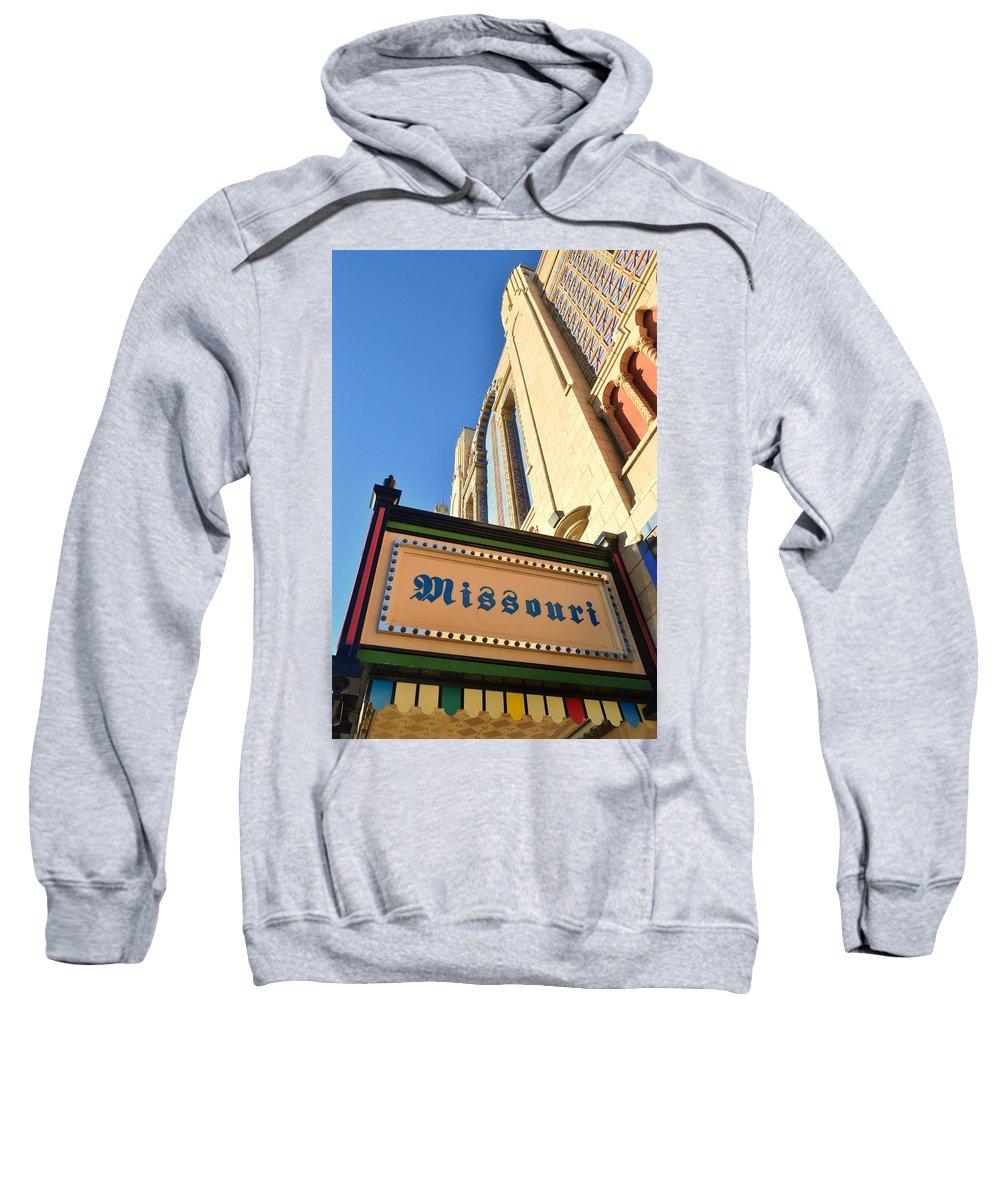 St. Joseph Sweatshirt featuring the photograph Missouri Theater by Kim Blaylock