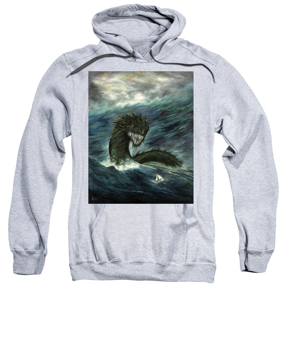 Dragon Sweatshirt featuring the painting Mistress Of The Sea by FT McKinstry