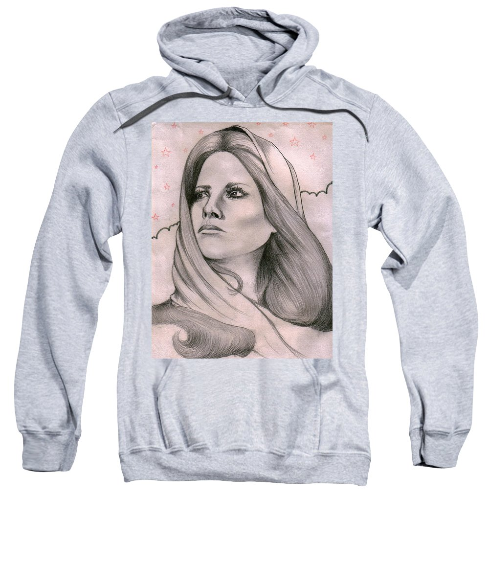 Portrait Sweatshirt featuring the drawing Misty by Marco Morales