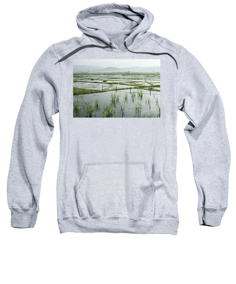 Asia Sweatshirt featuring the photograph Misty Morning In China by Michele Burgess