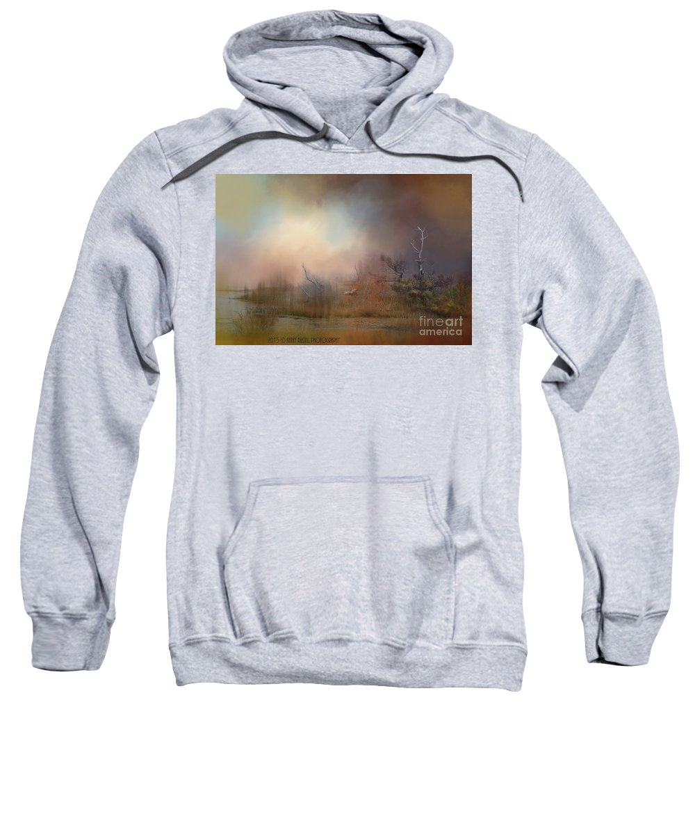 Water Sweatshirt featuring the photograph Misty Morning by Kathy Russell