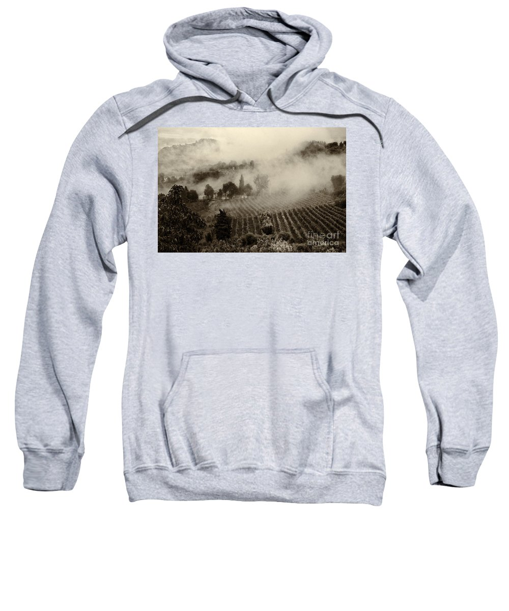 Tuscany Sweatshirt featuring the photograph Misty Morning by Silvia Ganora