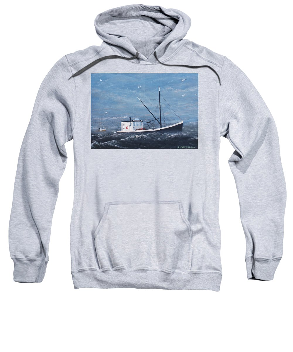 Boats Sweatshirt featuring the painting Misty by RJ Bremner