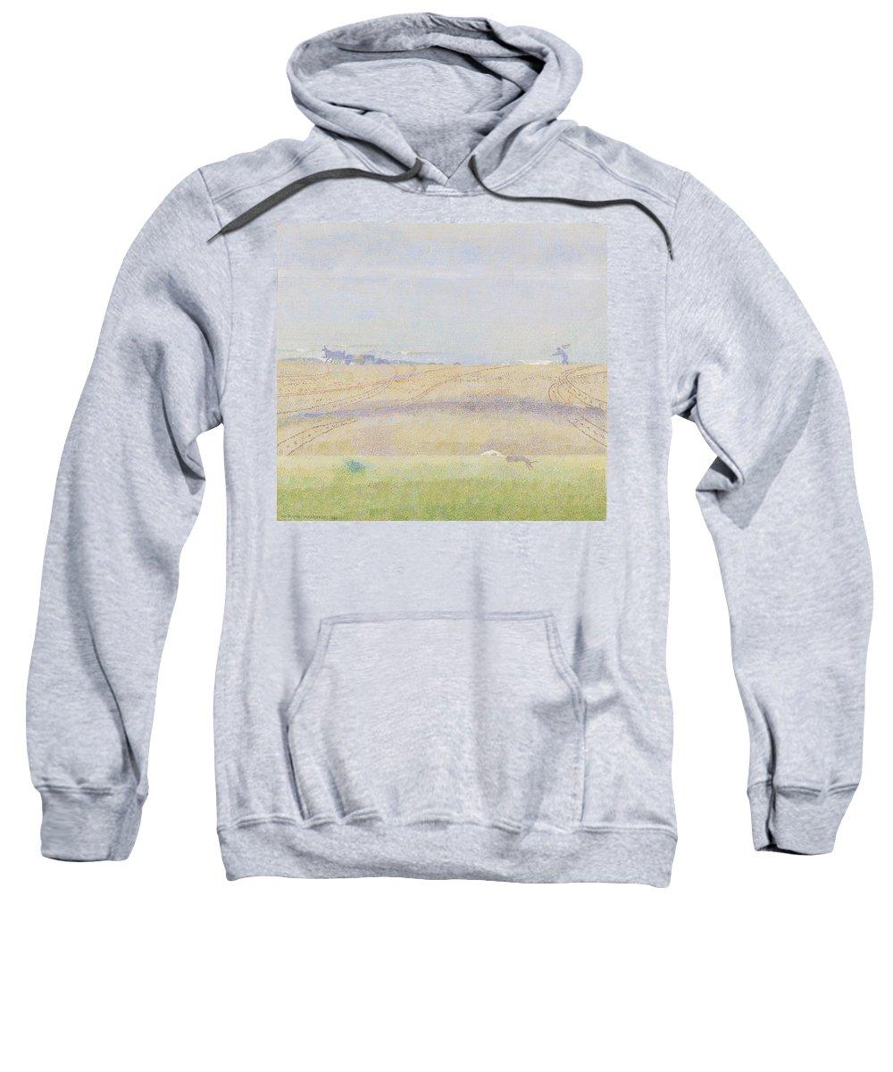 Nature Sweatshirt featuring the painting Misty Sea, Jan Toorop, 1899 by Jan Toorop