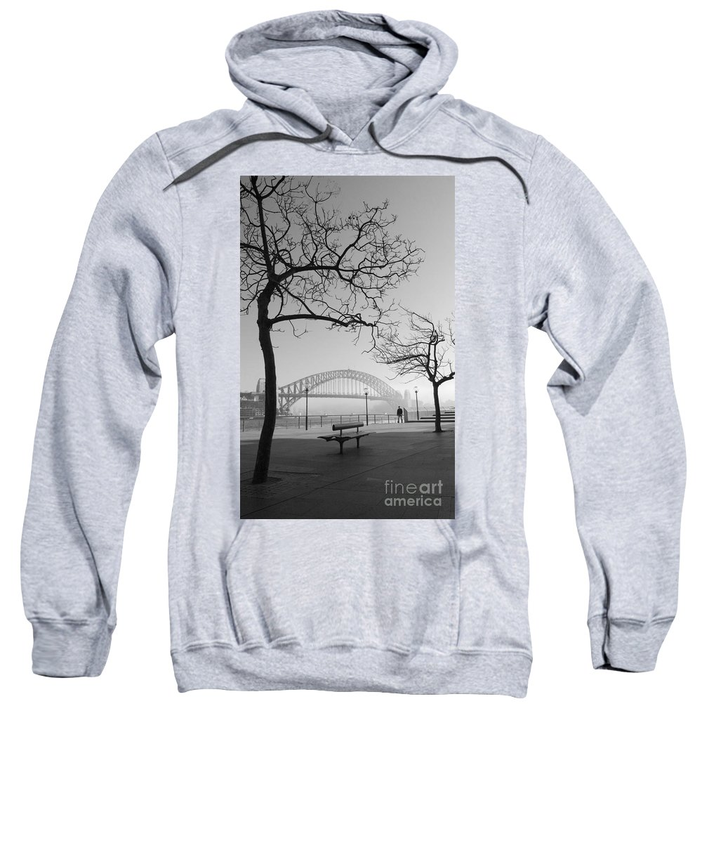 Sydney Harbour Bridge Mist Australia Sweatshirt featuring the photograph Misty Sydney Morning by Sheila Smart Fine Art Photography
