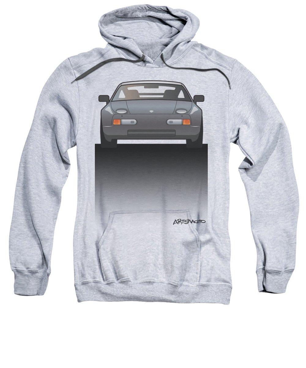 Car Sweatshirt featuring the digital art Modern Euro Icons Series Porsche 928 Gts Split by Monkey Crisis On Mars