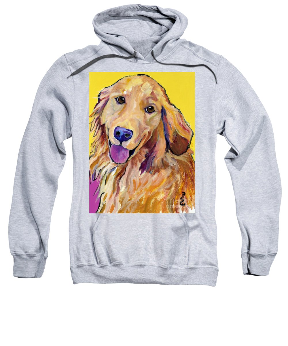 Acrylic Paintings Sweatshirt featuring the painting Molly by Pat Saunders-White