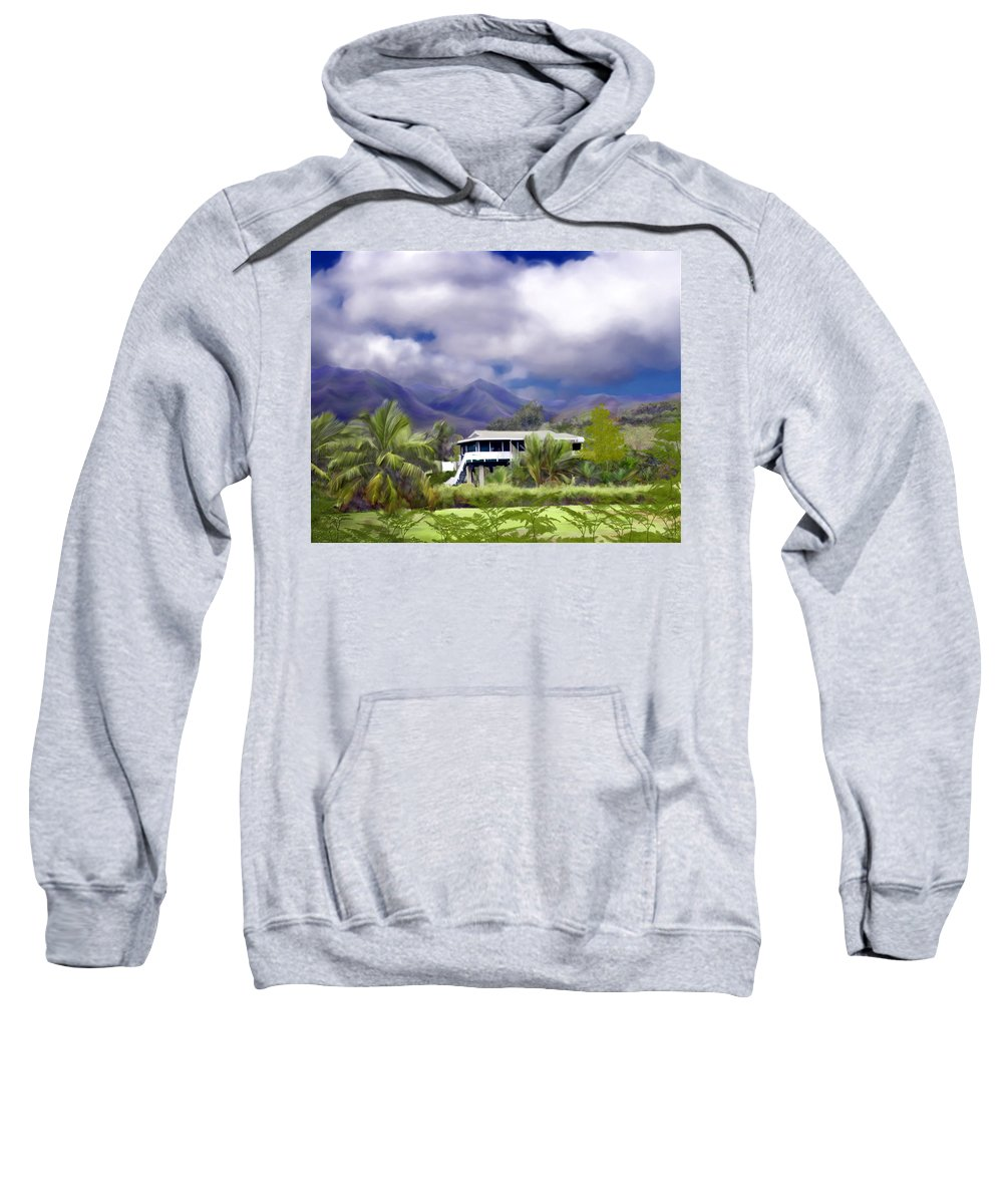 Hawaii Sweatshirt featuring the photograph Moloa A Bay Hideaway by Kurt Van Wagner