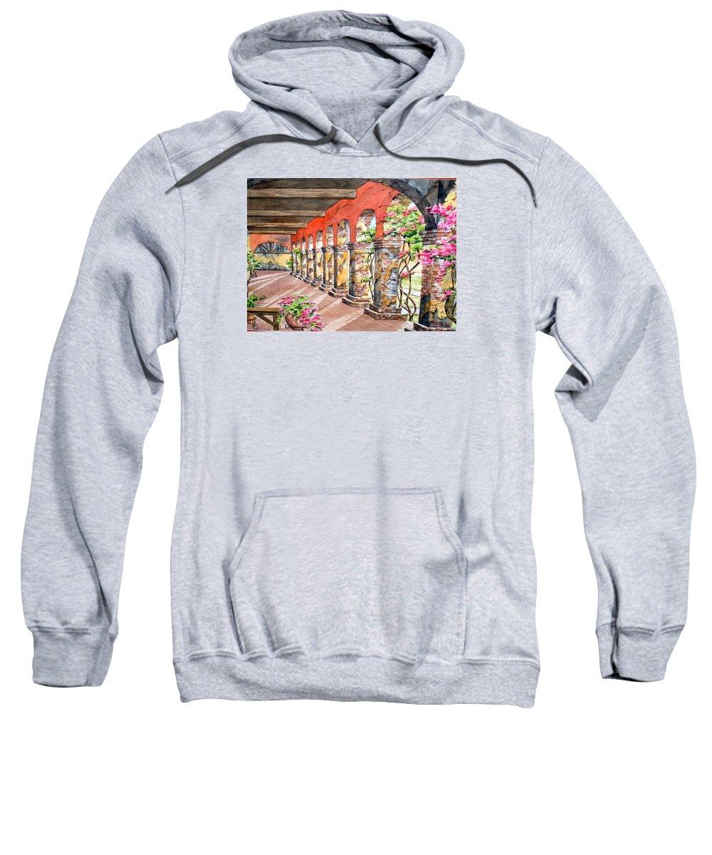 Landscape Sweatshirt featuring the painting Monasterio by Tatiana Escobar