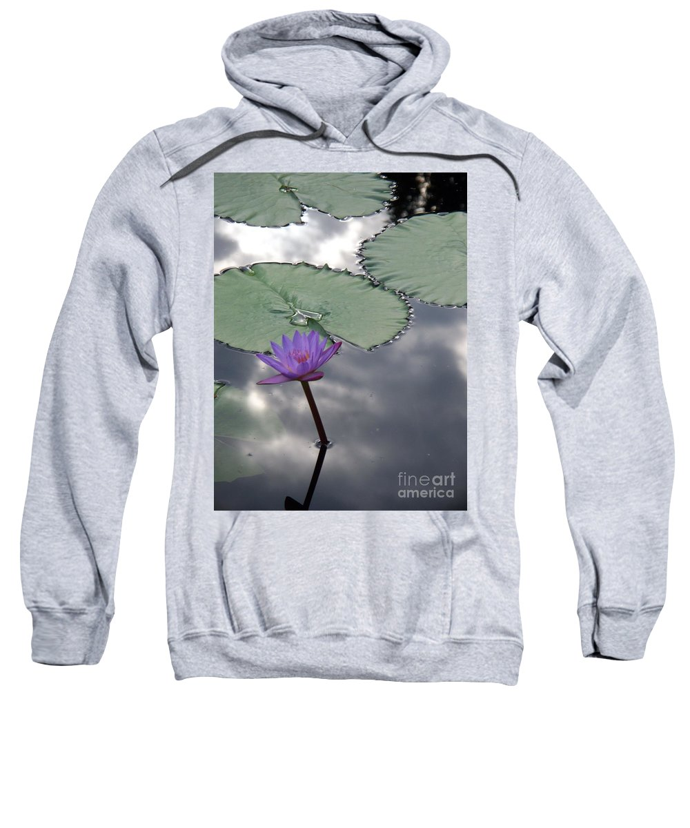 Photograph Sweatshirt featuring the photograph Monet Lily Pond Reflection by Eric Schiabor