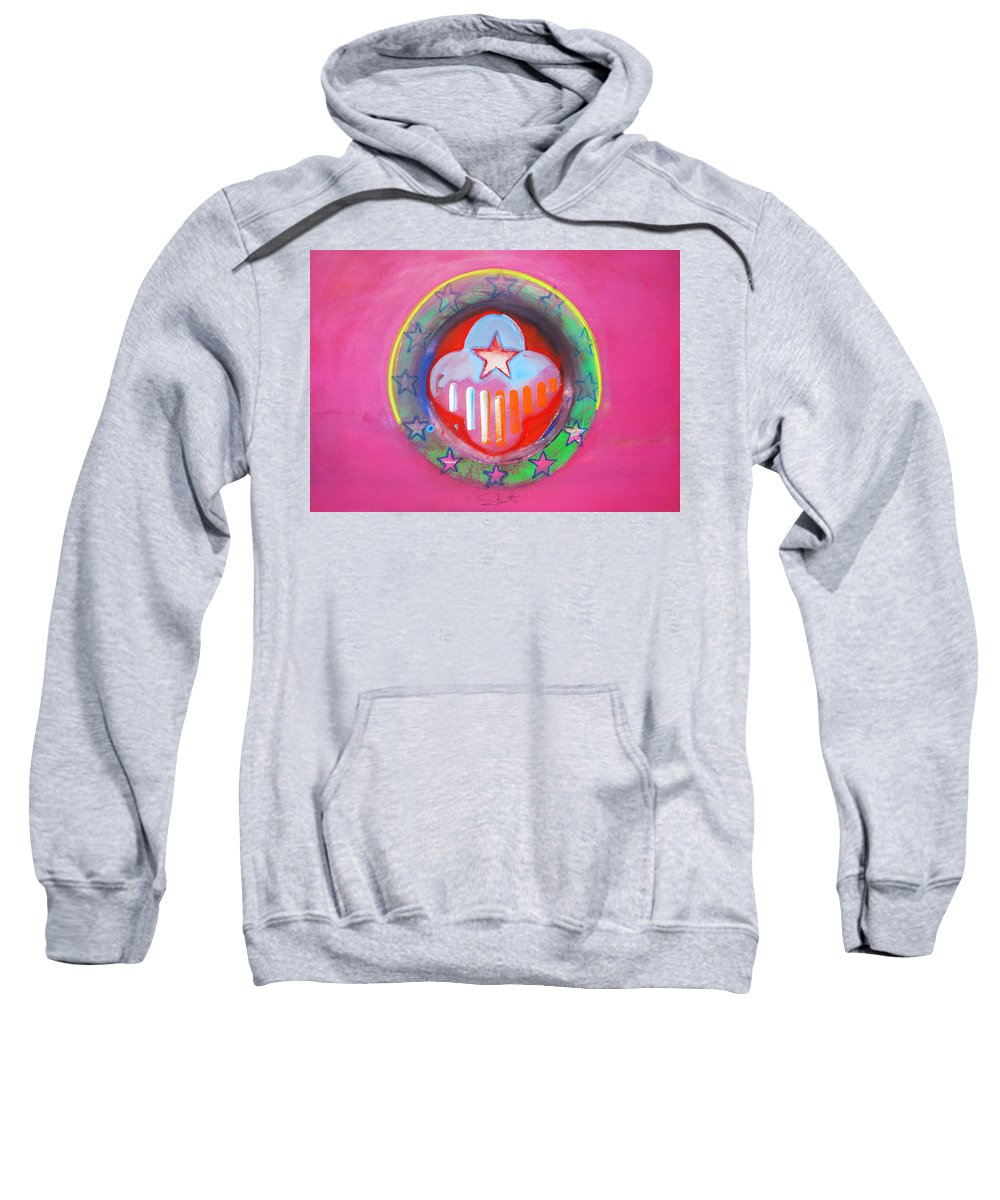 Symbol Sweatshirt featuring the painting Monetary Union by Charles Stuart