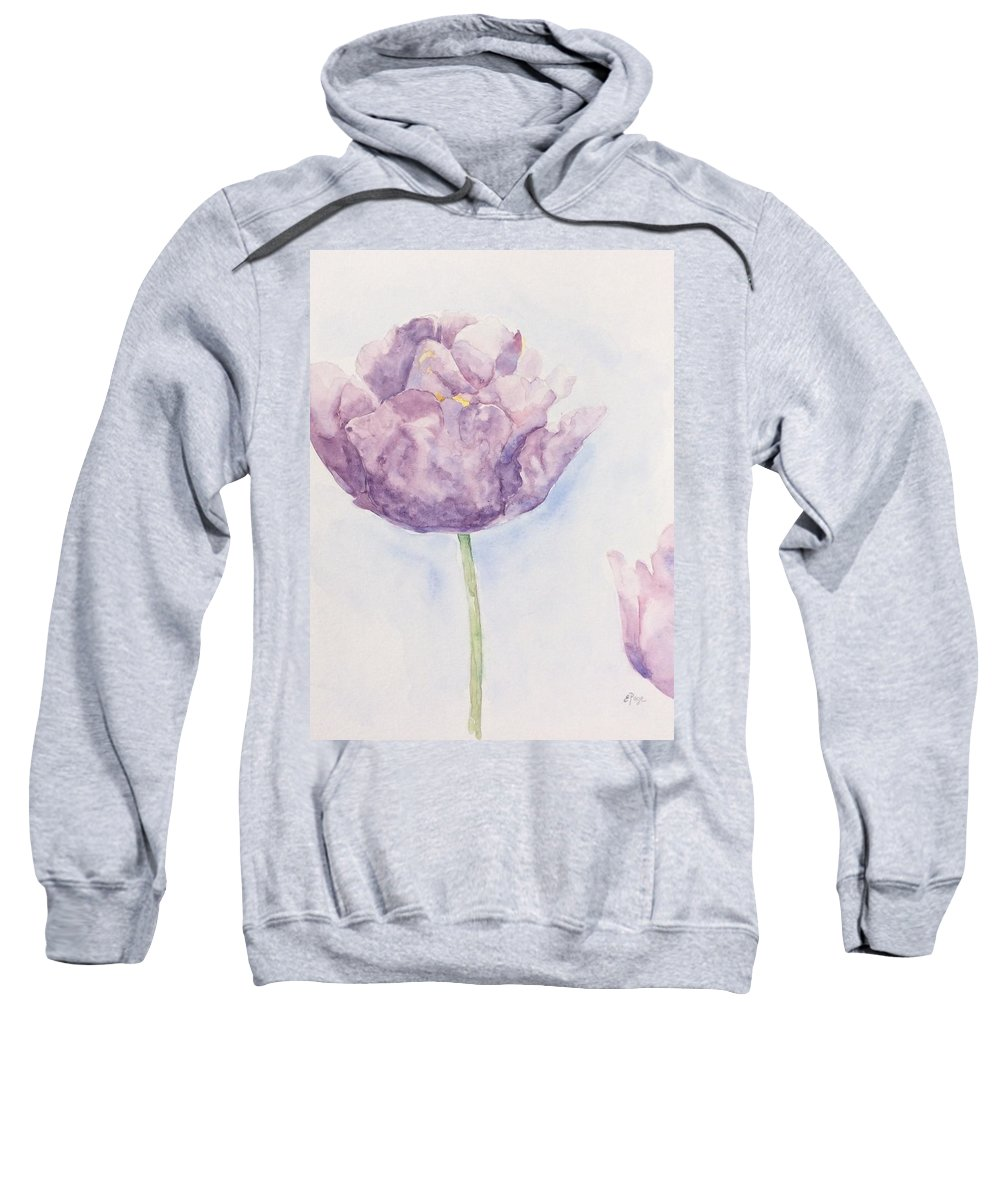 Monet Sweatshirt featuring the painting Monet's Tulip by Emily Page