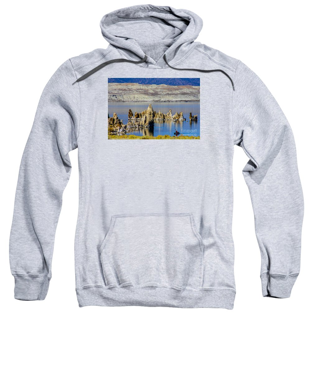 Mono Lake Sweatshirt featuring the photograph Mono Lake Spires by Tommy Anderson