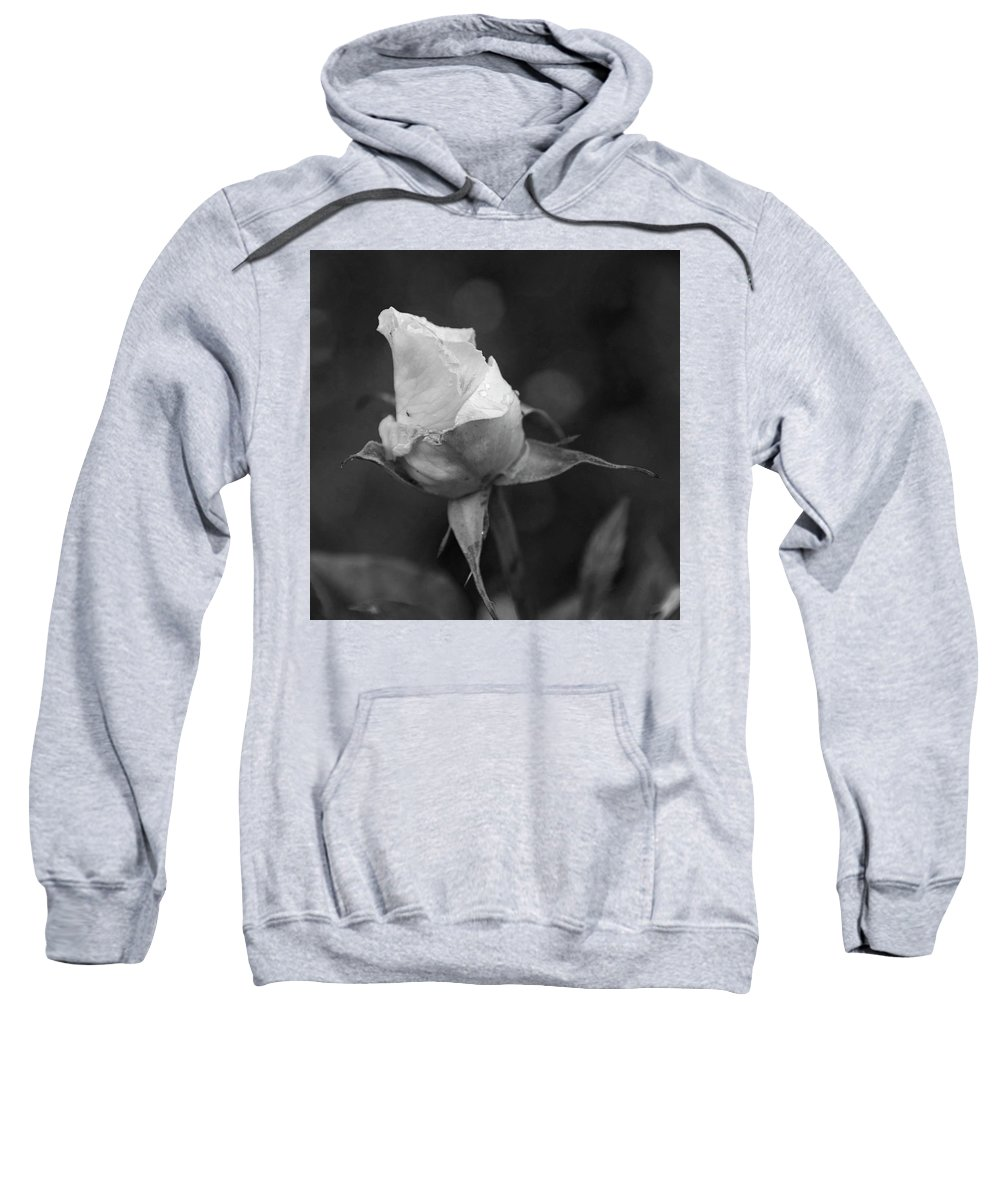 Rose Sweatshirt featuring the photograph Monochrome Rose by Kevin Gedny