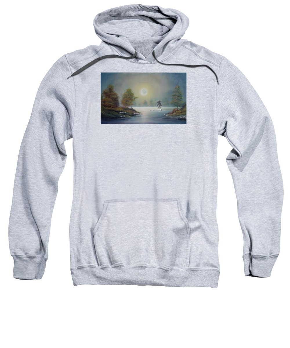 Landscape Sweatshirt featuring the painting Monstruo Ness by Angel Ortiz