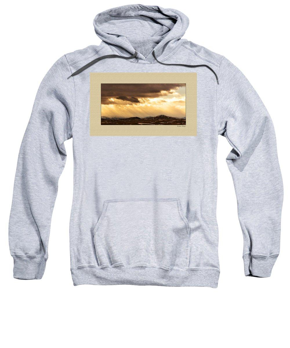 Montana Sweatshirt featuring the photograph Montana Gold by Susan Kinney