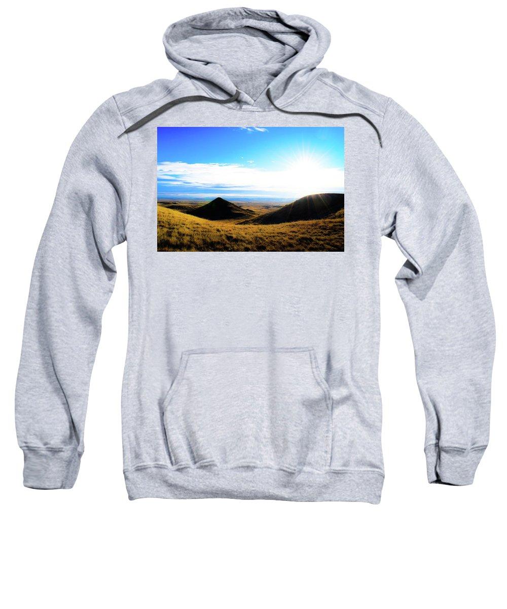 Sweatshirt featuring the photograph Montana by Mark Sepolio