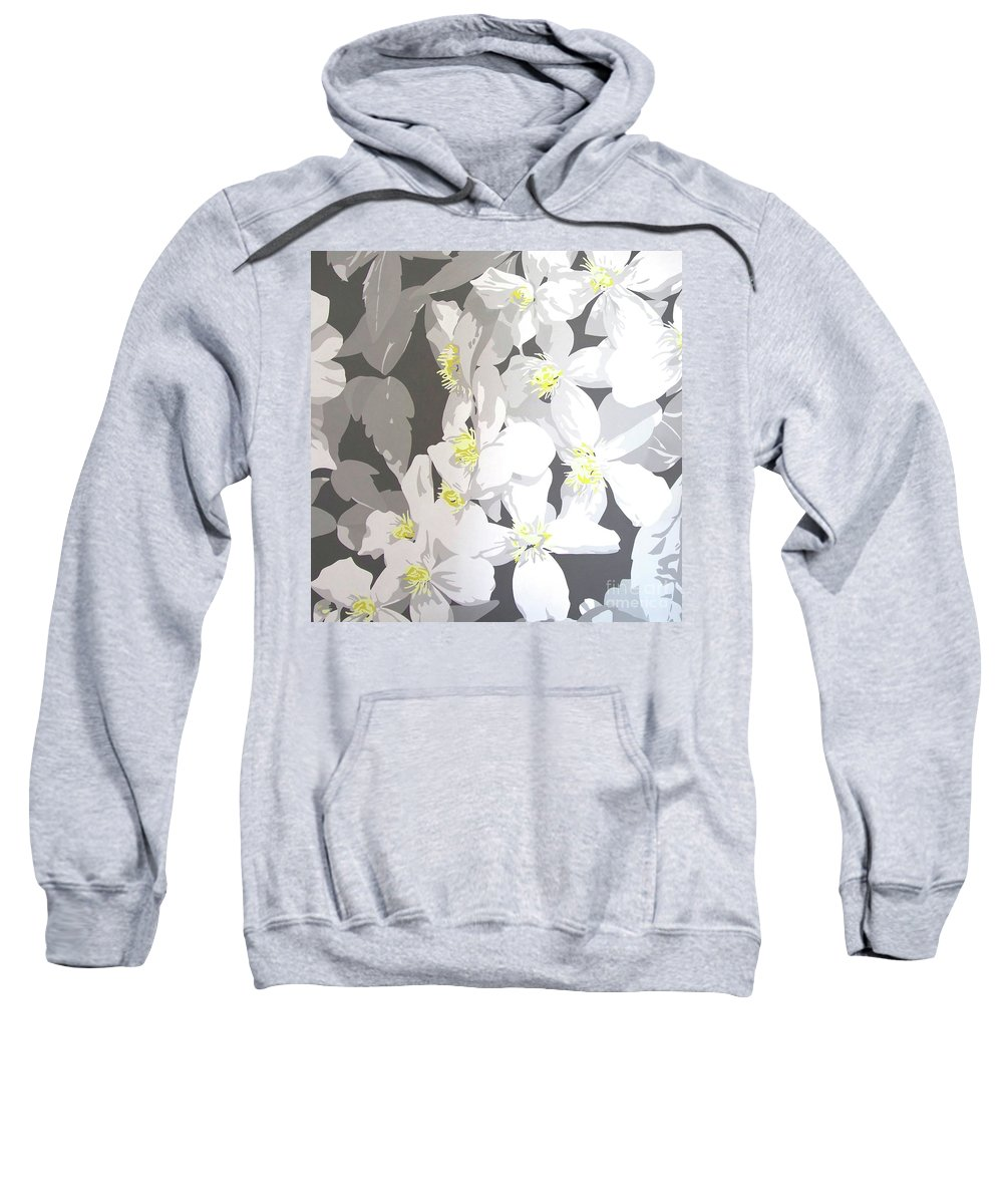 Clematis Sweatshirt featuring the painting Montana by Susan Porter