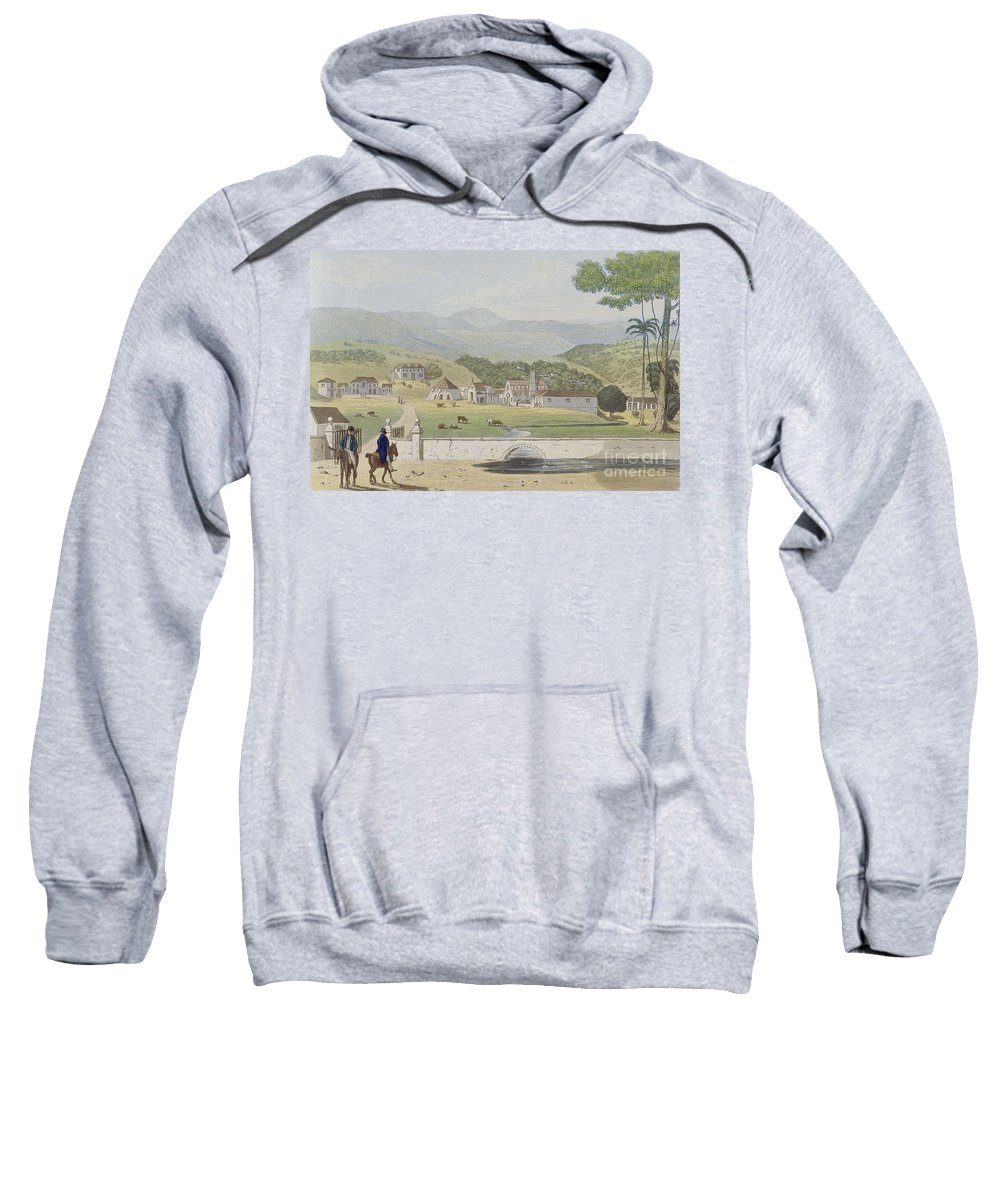 Montpelier Sweatshirt featuring the painting Montpelier Estates - St James by James Hakewill