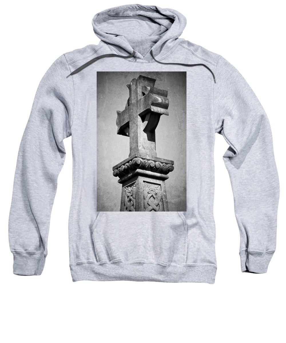 Irish Sweatshirt featuring the photograph Monument Cross Macroom Ireland by Teresa Mucha