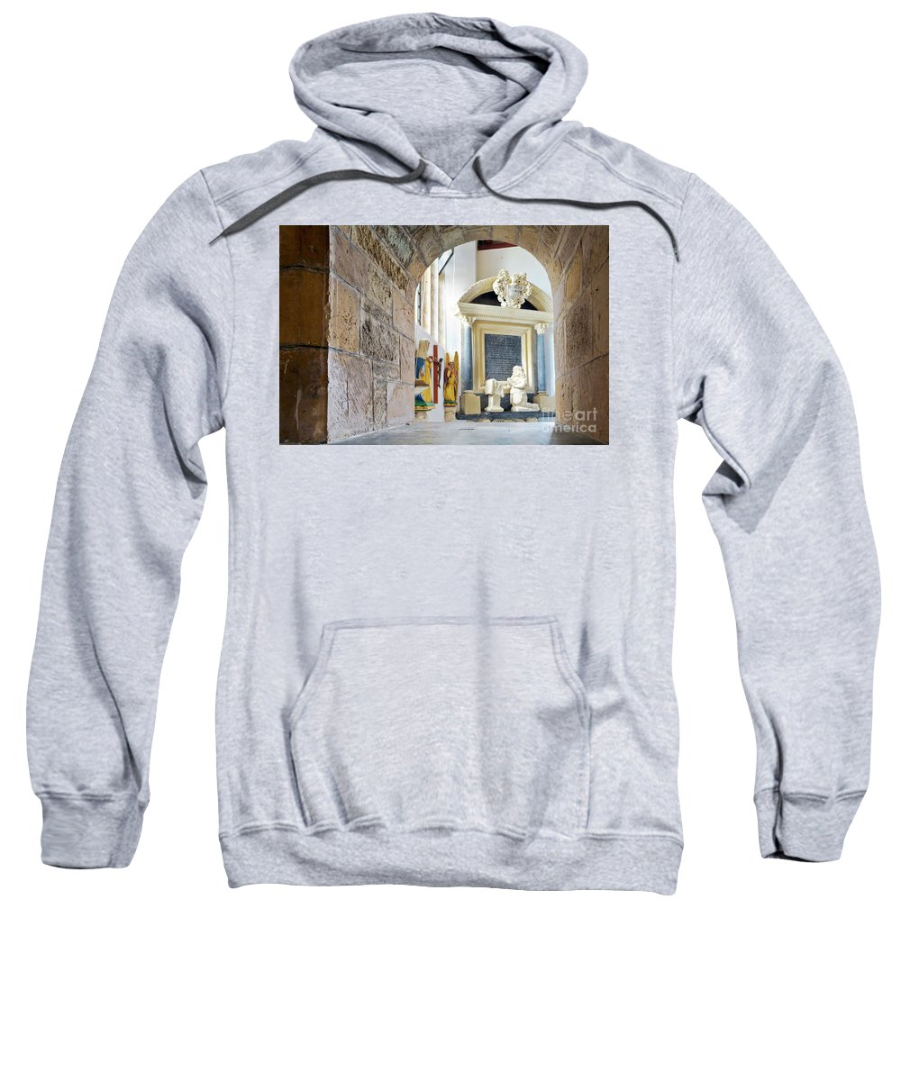 St Mylor Sweatshirt featuring the photograph Monument In St Mylor Church by Terri Waters