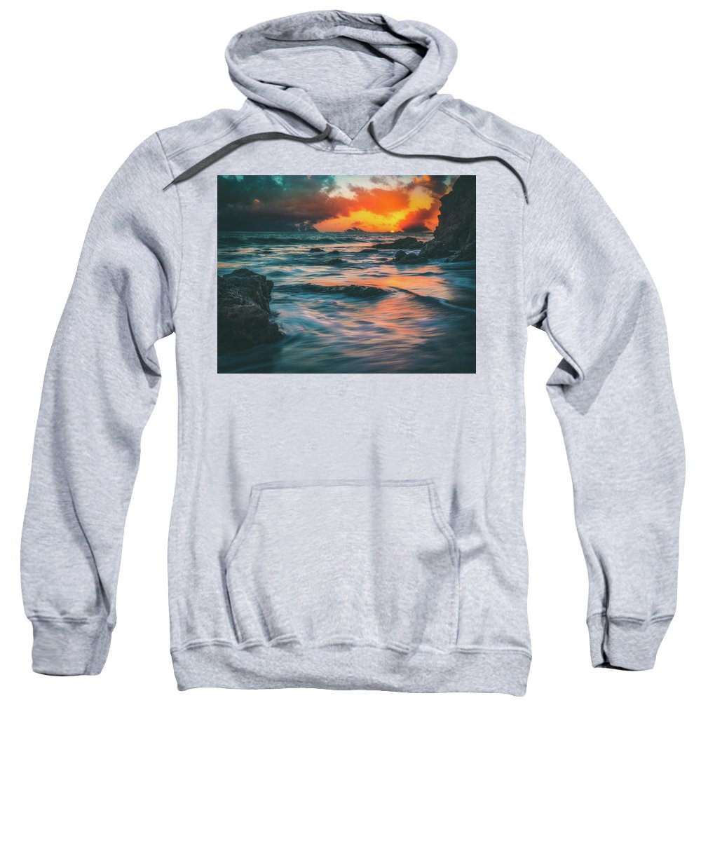 Moody Sweatshirt featuring the photograph Moody Ocean by Andrew Zuber