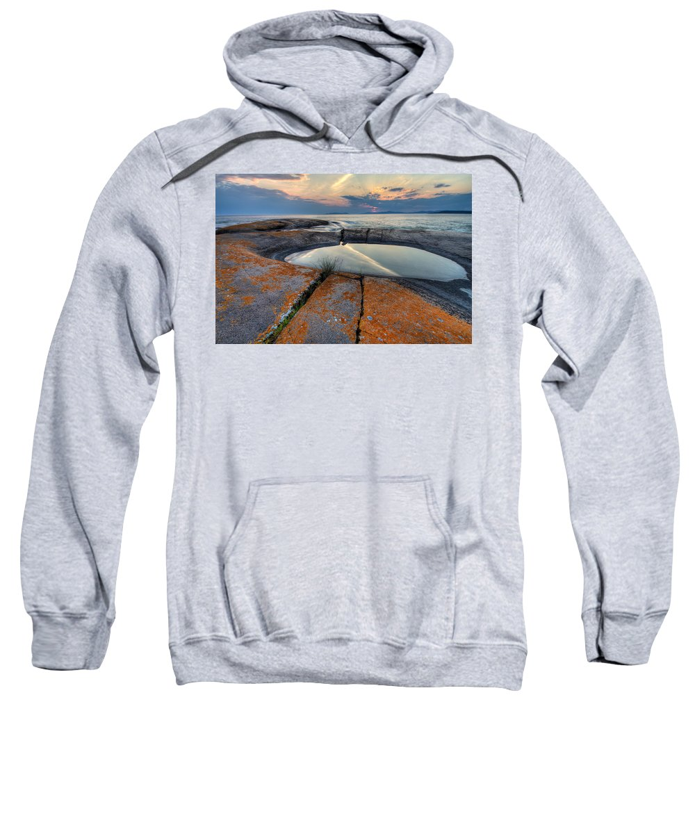 Water Sweatshirt featuring the photograph Moon Flower by Doug Gibbons