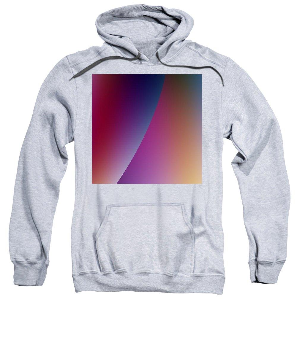 Digital Art Sweatshirt featuring the digital art Moon Iv by Dragica Micki Fortuna