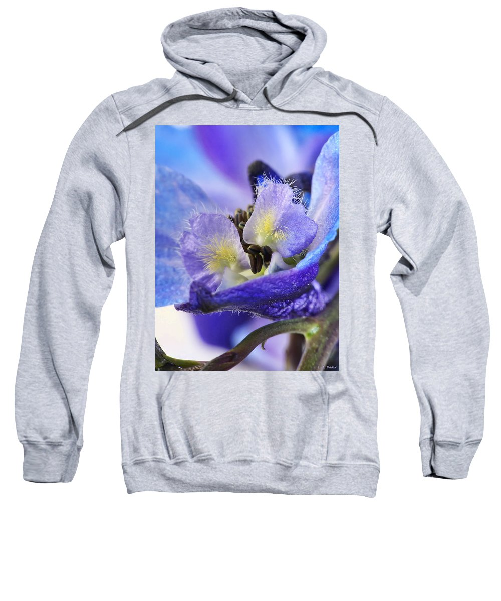 Macro Sweatshirt featuring the photograph Moon Rise by Lauren Radke