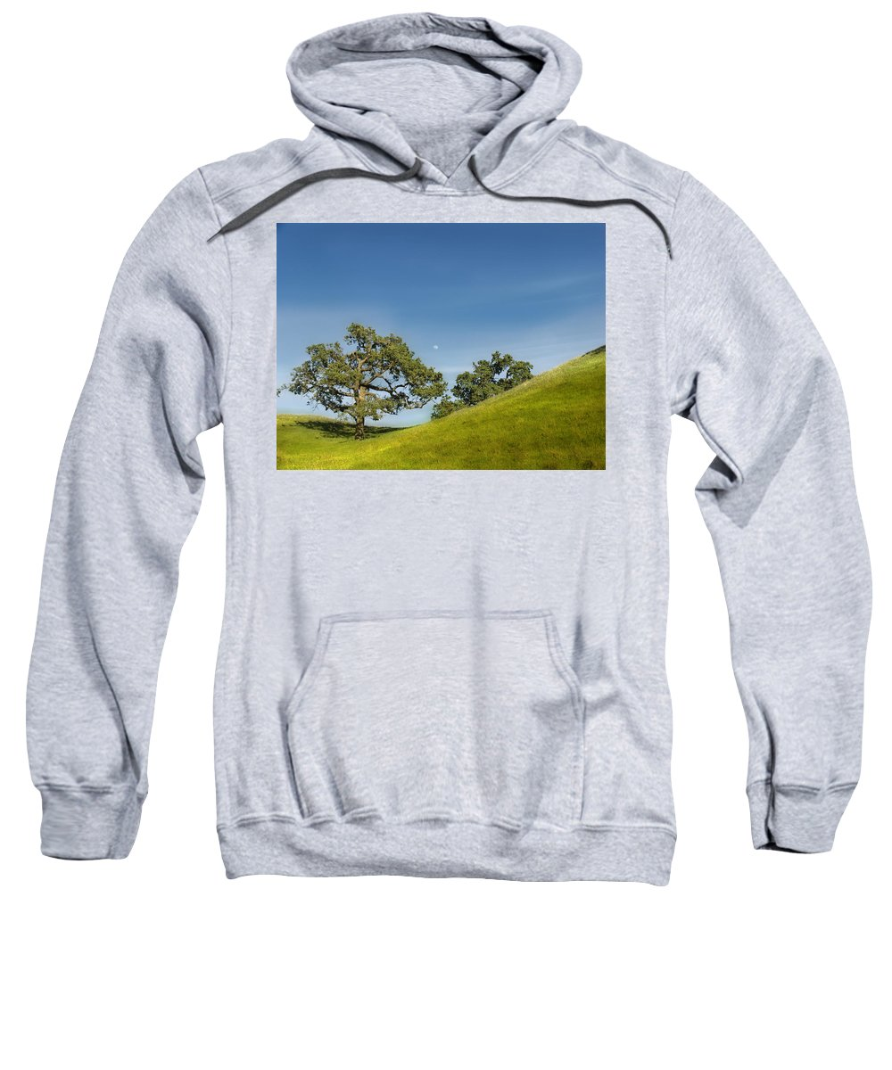 Landscape Sweatshirt featuring the photograph Moon Rising by Karen W Meyer