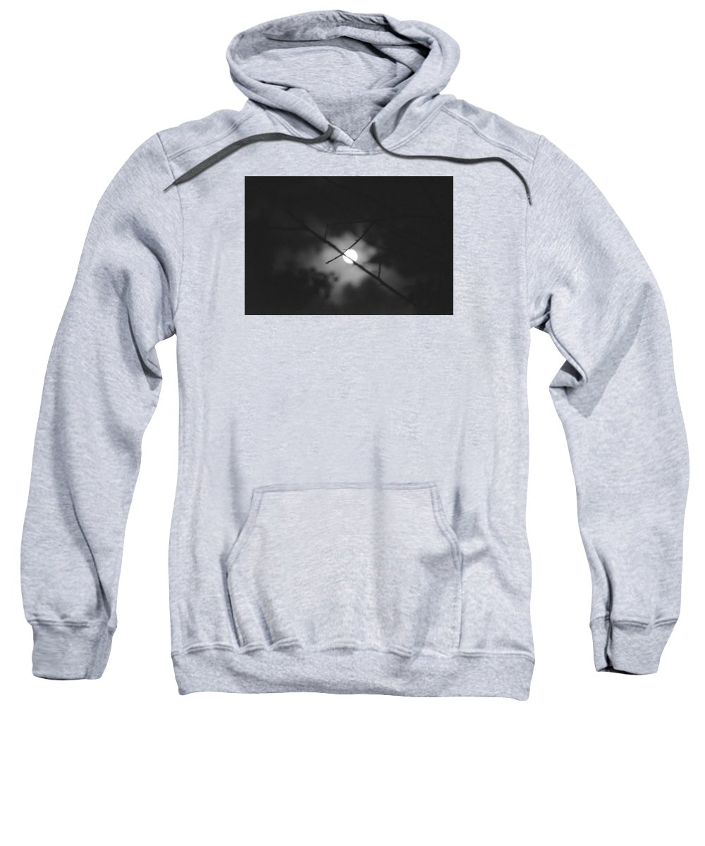 Full Moon Sweatshirt featuring the photograph Moonlight And Branch by Totto Ponce