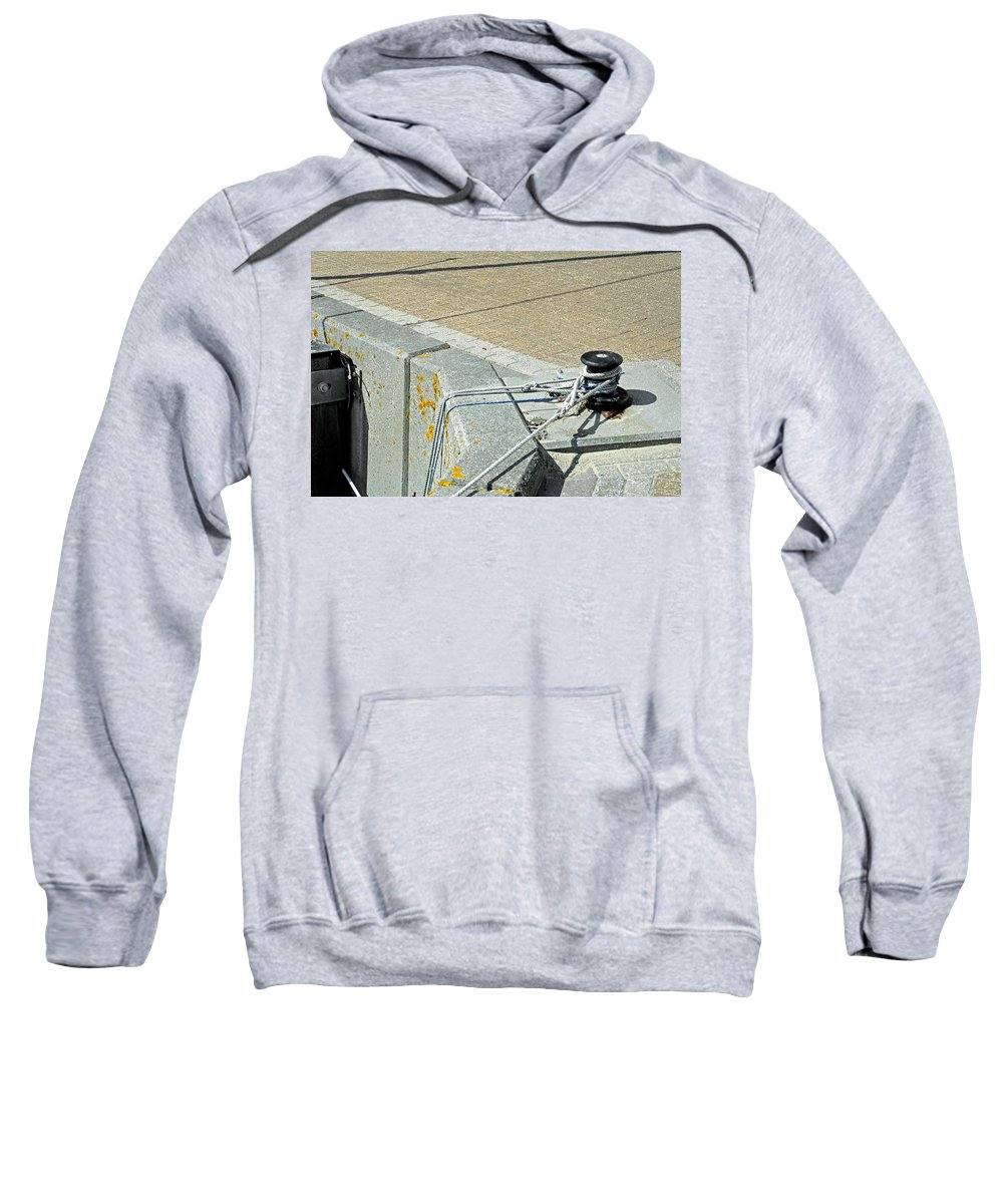 Ryde Sweatshirt featuring the photograph Mooring Ropes - Ryde Harbour by Rod Johnson