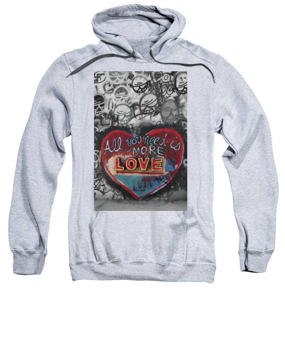 Love Sweatshirt featuring the photograph More Love by Sabrina Einsla