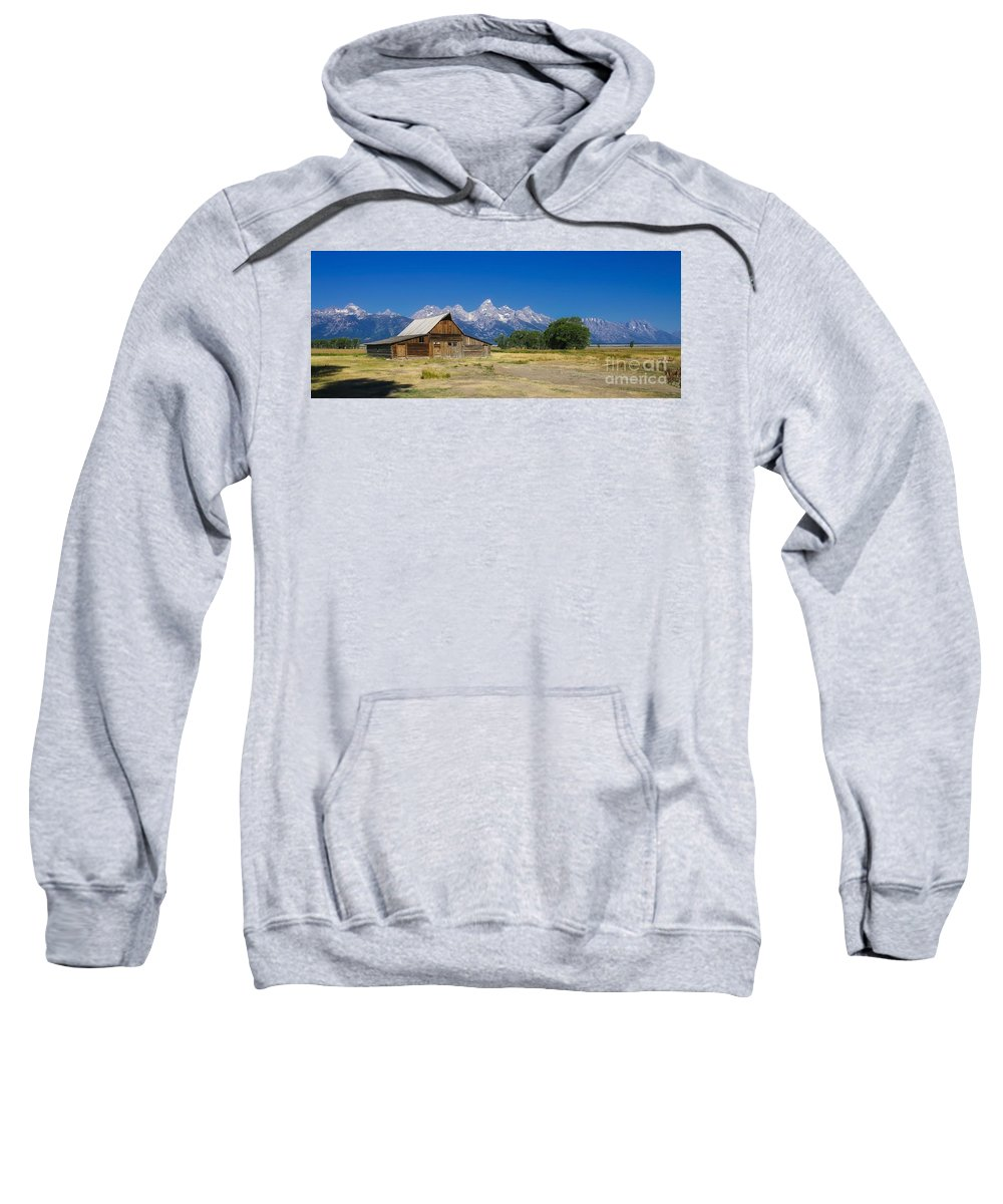 Mormon Row Sweatshirt featuring the photograph Mormon Row by Phil Cappiali Jr