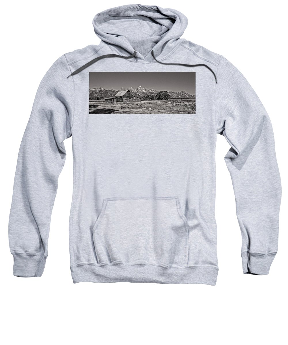 Mormon Row Sweatshirt featuring the photograph Mormon Row Too by Phil Cappiali Jr